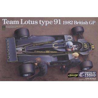 1:20 Team Lotus Type 91 1982 British GP