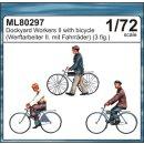 1:72 Werftarbeiter II mit Fahrrädern (3 Figuren)