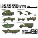 1:350 USA Landing Vehicle Set WW2