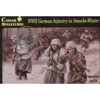1:72 WW2 German Infantry in Smocks-Winter