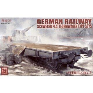 1:72 German Railway Schwerer Plattformwagen Type SSYS
