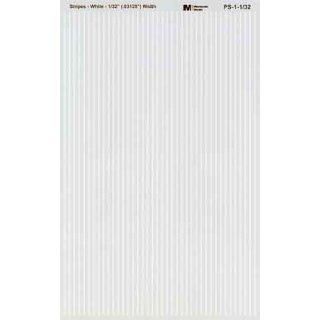 Decal Streifen weiß 1/32 (0,8mm)