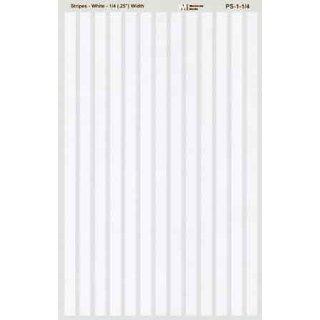 Decal Streifen weiß 1/4 (6,4mm)
