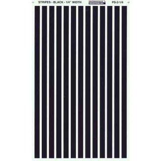 Decal Streifen schwarz 1/4 (6,4mm)