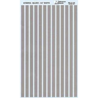 Decal Streifen silber 1/4 (6,4mm)