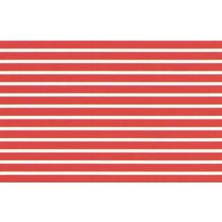 Decal Streifen rot 1/4 (6,4mm)