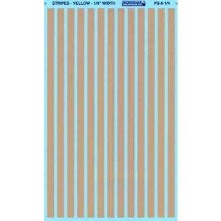 Decal Streifen Gelb 1/4 (7mm)