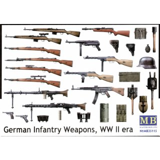 1:35 German infantry weapons, WWII