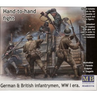 1:35 Hand-to-hand fight,German&British infant infantrymen, WWI era