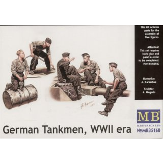 1:35 German tankmen, WWII era