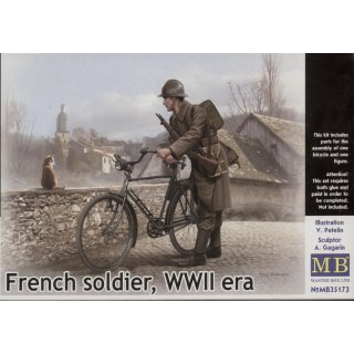 1:35 French soldier, WWII era