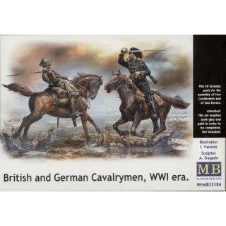 1:35 British and German cavalrymen,WWI era