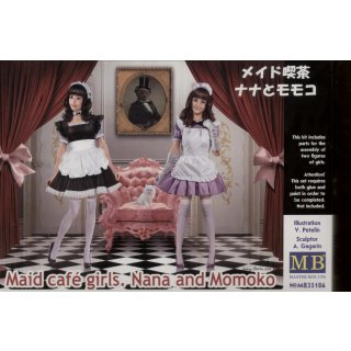 1:35 Maid cafe girls. Nana and Momoko