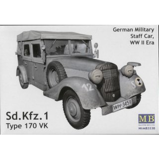 1:35 Sd. Kfz. 1 Type 170 VK, German Military Staff car, WW II Era