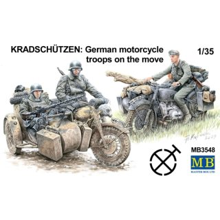 1:35 Kradschutzen: German Motorcycle Troops on the Move