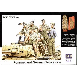 1:35 Rommel & German tank crew, DAK, WWII era