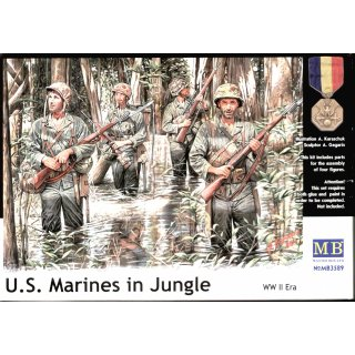 1:35 U.S. Marines in jungle, WWII era