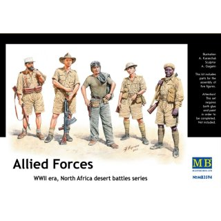 1:35 Allied Forces, WW II era, North Africa, desert battles serie