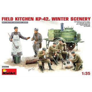 1:35 Feldküche KP-42. Winterlandschaft