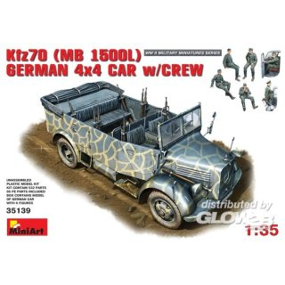 1:35 Kfz. 70 (MB L1500A)German 4x4 Car w/Crew