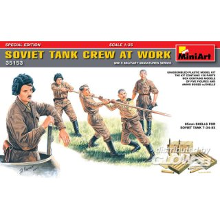 1:35 Soviet Tank Crew at Work Special Edition