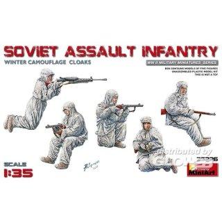 1:35 Soviet Assault Infantry(Winter Camouflag Cloaks)