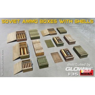 1:35 Soviet Ammo Boxes with Shells