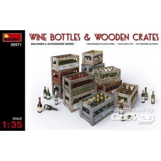 1:35 Wine Bottles & Wooden Crates