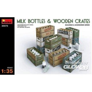 1:35 Milk Bottles & Wooden Crates