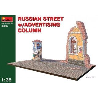 1:35 Russische Straße mit Litfassnule with Advertising Column