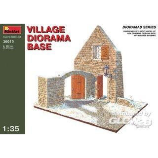 1:35 Dorf Diorama Grundplatte