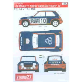 Decal Renault R5 Turbo Rasoirs Philips 1982