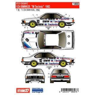 Decal BMW 635 M Technic 1983