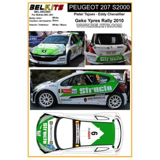 Decal Peugeot 207 S2000 Geko Ypres Rally 2010