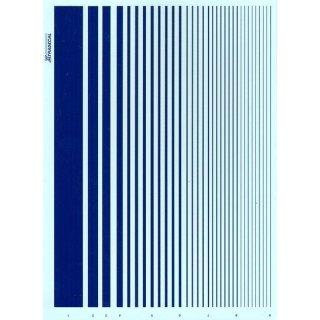 Decal Streifen blau