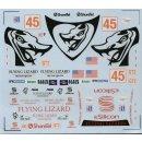 """Decal Porsche 911 GT3 Cup """"Flying Lizards"""" Daytona 2004"""