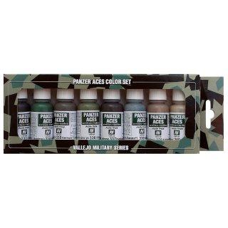 Farbset, Set 5  - Panzer - Uniformen III, (8 x 17ml)