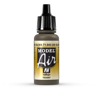 RAL7013 / RLM81 Olive Drab 17ml, Acryl-Farbe