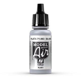 17ml, Acryl-Farbe silber metallic