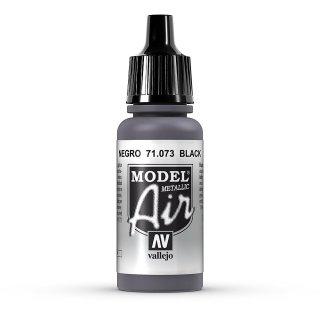 17ml, Acryl-Farbe schwarz metallic