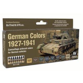 Deutsche Farben 1927-1941, Militär, (8 x 17ml)