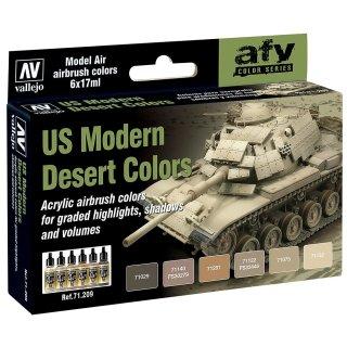 Farbset, moderne US-Wüsten-Farben, 6 x 17 ml