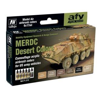 Farbset, MERDC Wüstentarnung US Armee, 6 x 17 ml