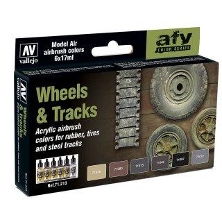 Farbset, Reifen und Ketten, (6 x 17ml)