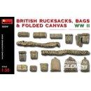 1:35 British Rucksacks,Bags&Folded Canvas WW2