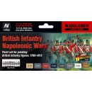 Farbset, Britische Infanterie,Napoleonische Kriege, (8 x 17ml)