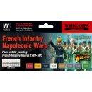 Farbset, Französische Infanterie, Napoleonische Kriege, (8 x 17ml)
