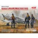 1:32 German Luftwafe Pilots(1939-1945)(3 Figu
