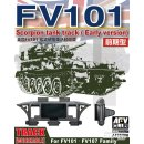 1:35 Workable Track FV101 Scorpion Tank Track early Version