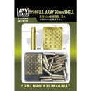 1:35 Brass US Army 90mm Shell